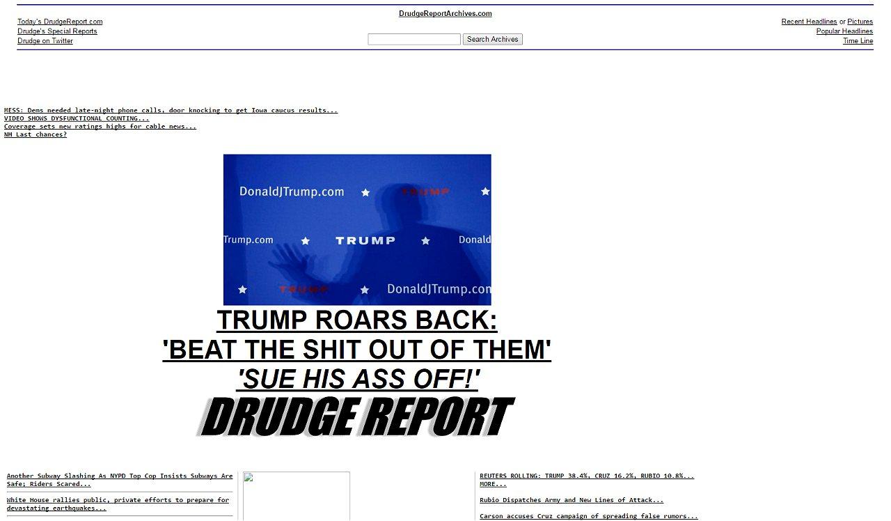 Drudge goes all in for Trump - POLITICO