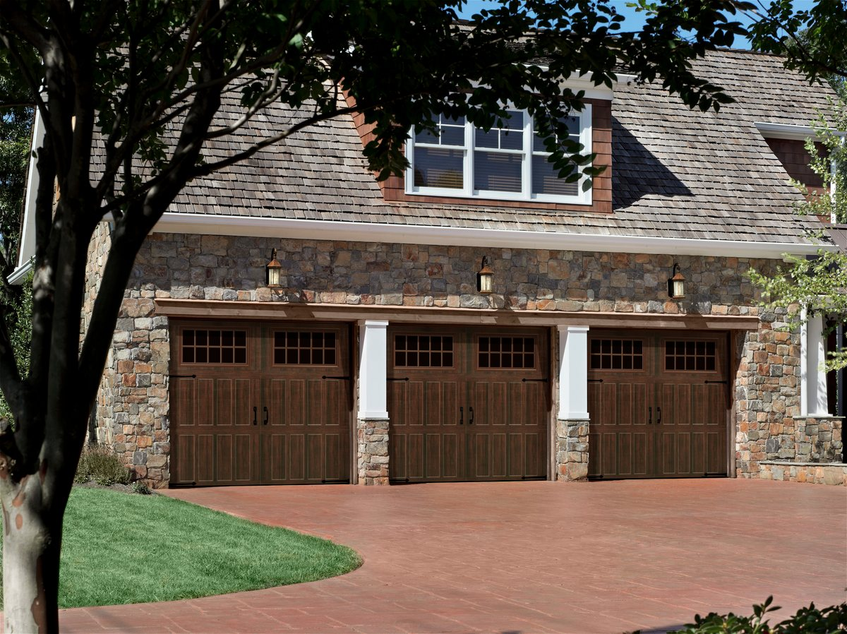 Amarr classica garage doors -  That Go Up And Down Like Traditional Garage Doors Three Section Tall Designs Instead Of Four Help Deliver A More Authentic Carriage House Look