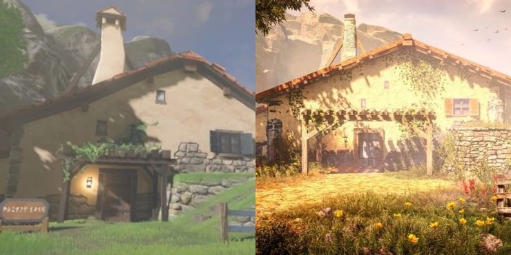 Link's house recreated in detail from Zelda: Breath of the Wild in Far Cry 5