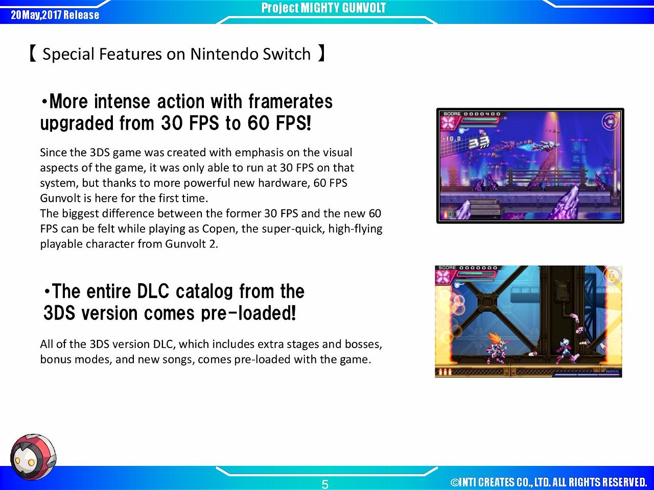 Inti creates announces mighty gunvolt burst azure striker try watching this video on youtube or enable javascript if it is disabled in your browser ccuart Images