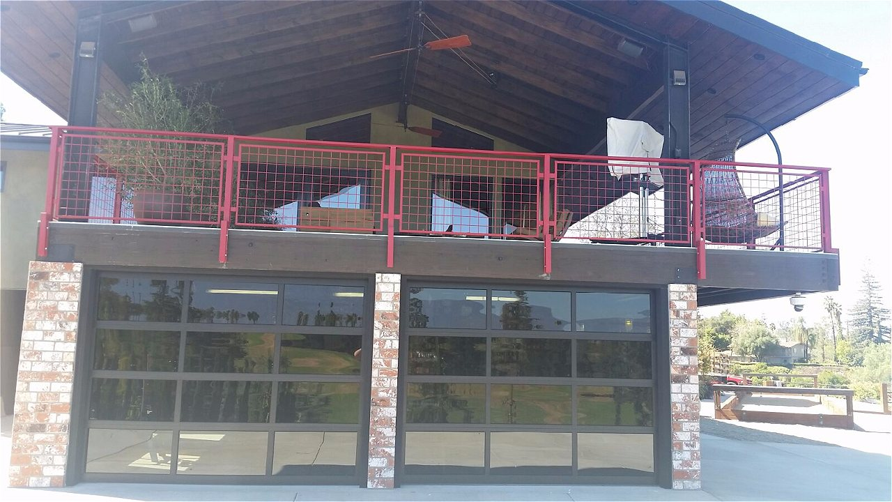 Glass overhead doors -  Amarr Vista Full View Aluminum Glass Garage Doors On Trac Garage Doors